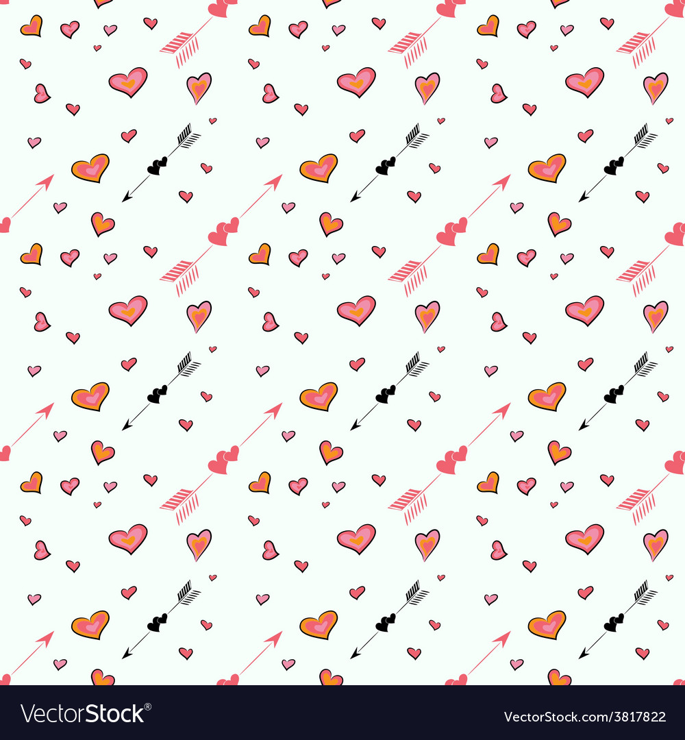 Pattern with love vector