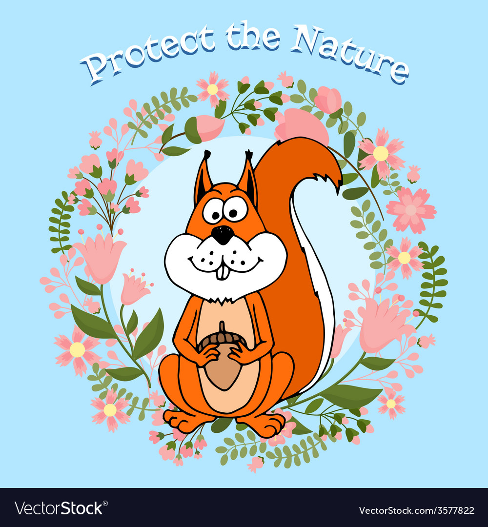Protect the nature poster vector | Price: 1 Credit (USD $1)