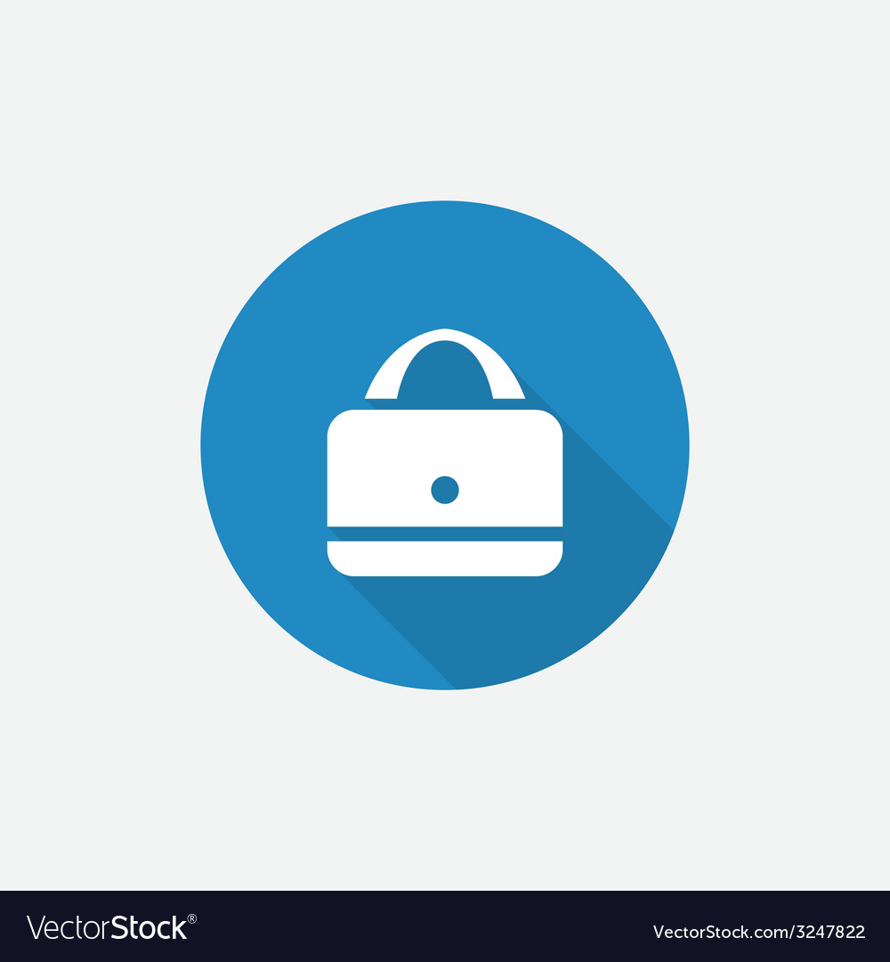 Purse flat blue simple icon with long shadow vector   Price: 1 Credit (USD $1)