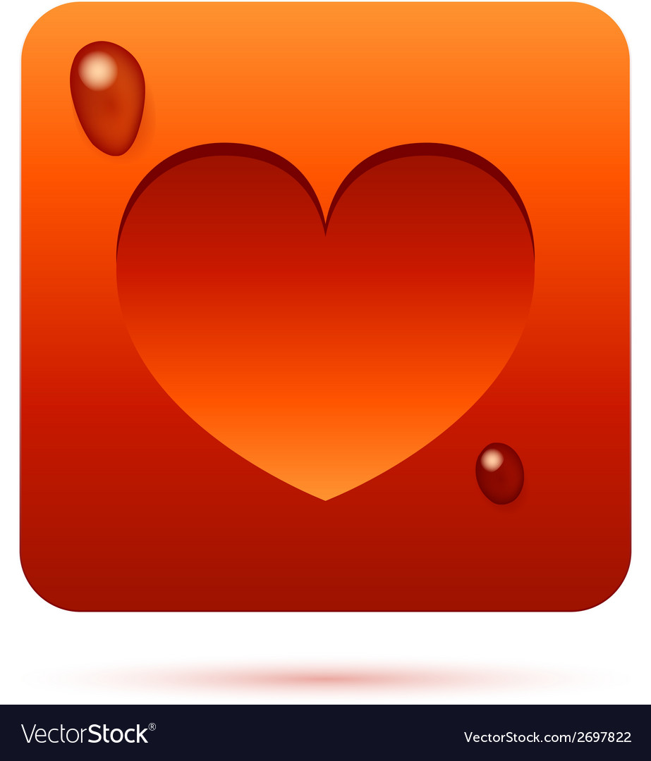 Red heart symbol vector | Price: 1 Credit (USD $1)