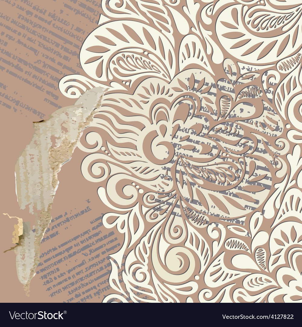 Shabby vintage wallpaper background vector | Price: 1 Credit (USD $1)