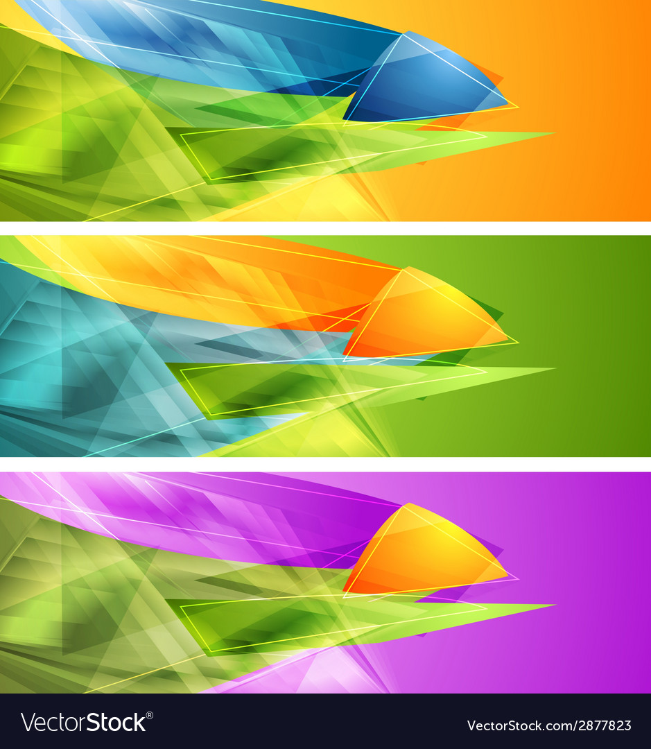 Bright banners with abstract shapes vector | Price: 1 Credit (USD $1)