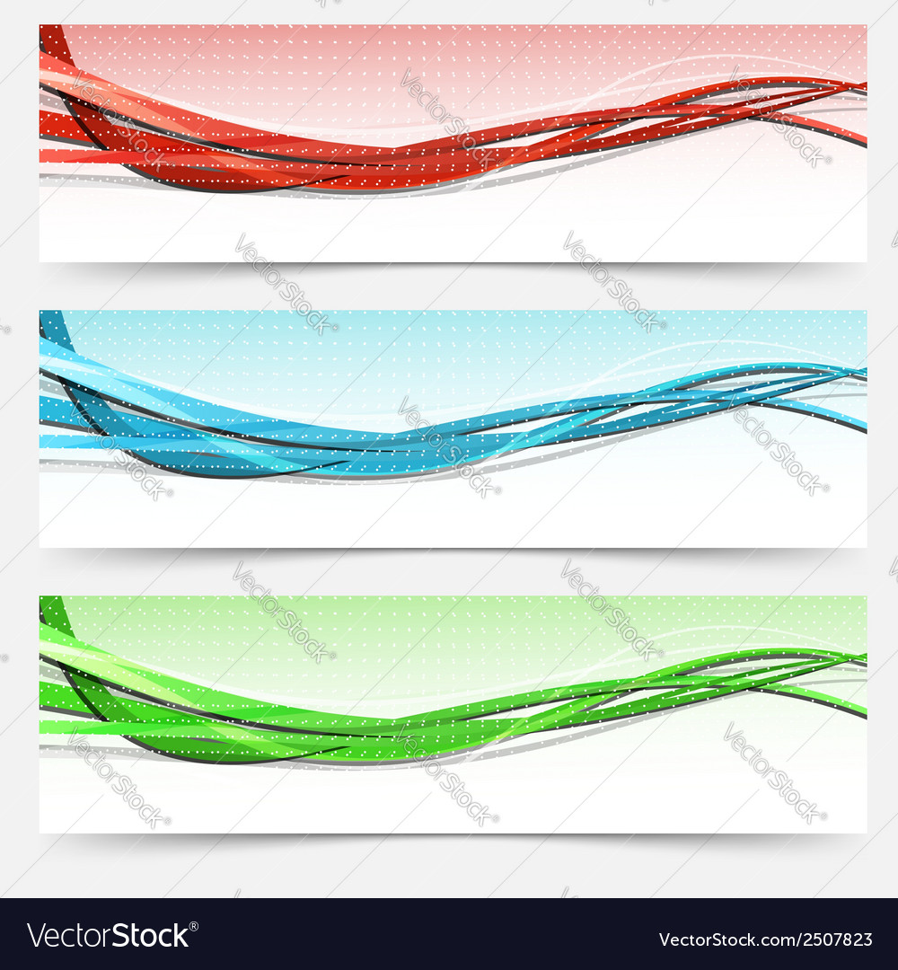 Bright swoosh lines cards set - templates vector | Price: 1 Credit (USD $1)