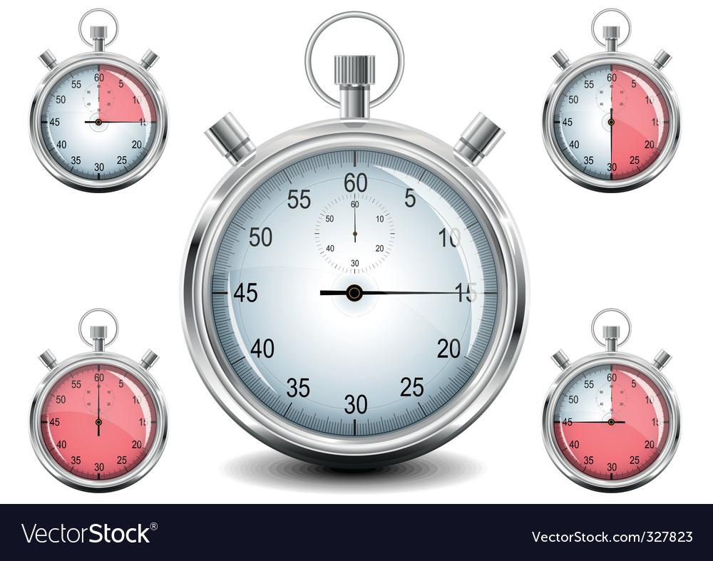chrome stopwatch vector