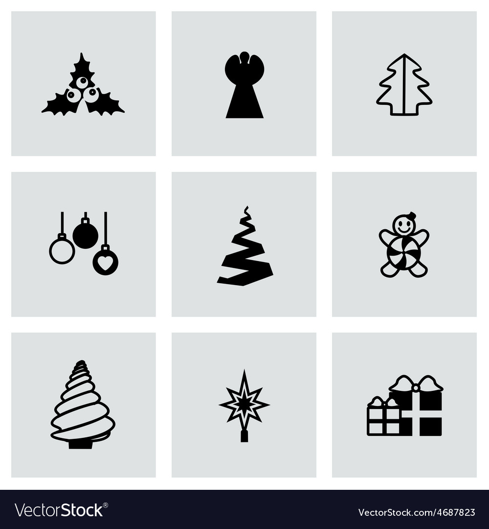 Cristmas trees icon set vector | Price: 1 Credit (USD $1)