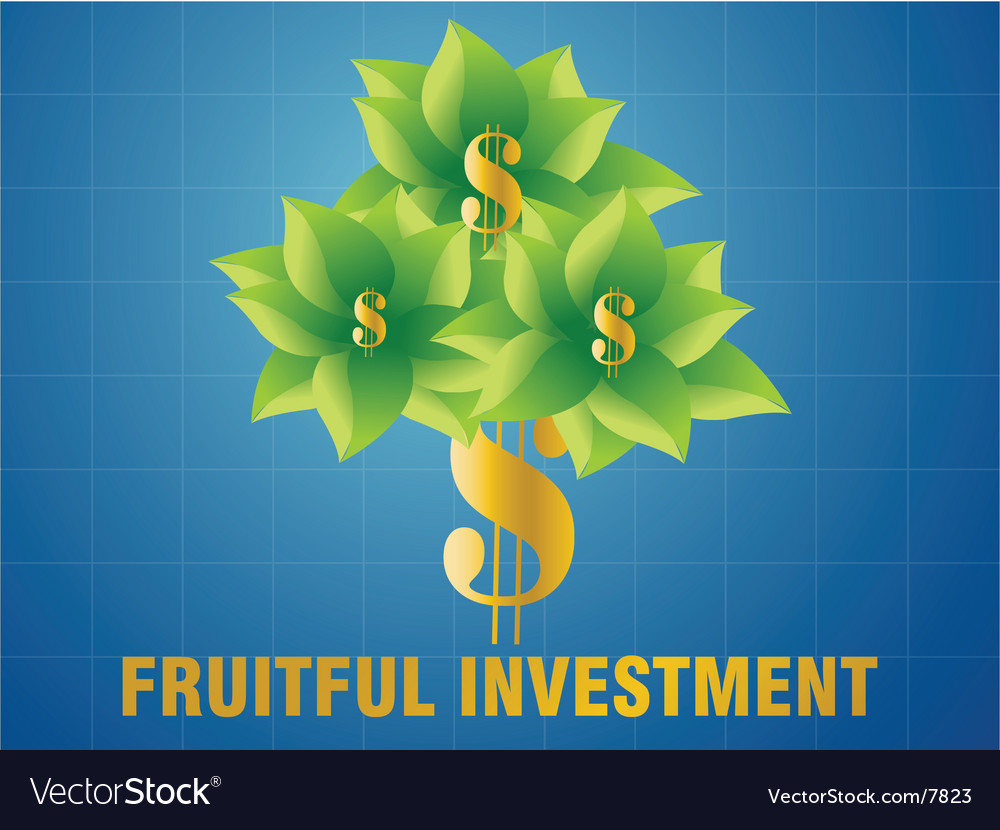 Fruitful investment vector | Price: 1 Credit (USD $1)