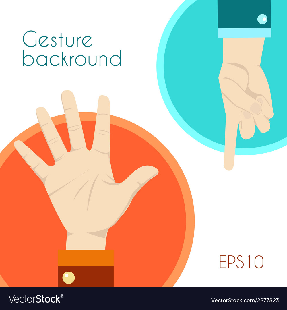Gesture signs background vector | Price: 1 Credit (USD $1)