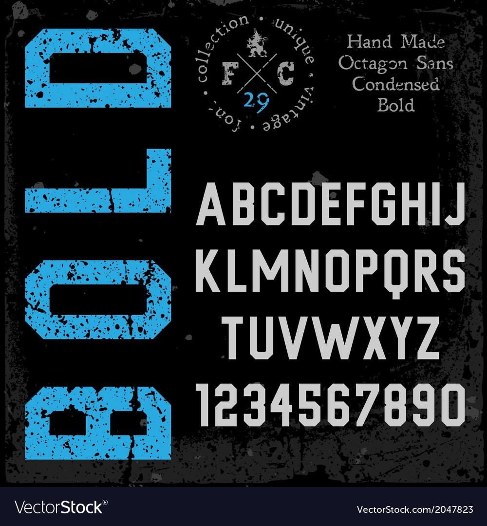Handmade retro font vector | Price: 1 Credit (USD $1)