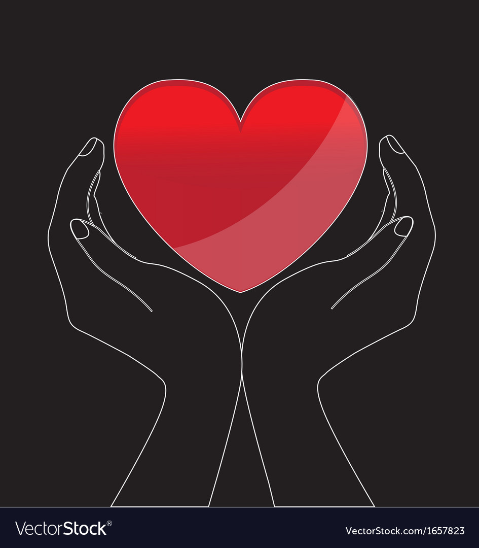Heart in hands vector | Price: 1 Credit (USD $1)