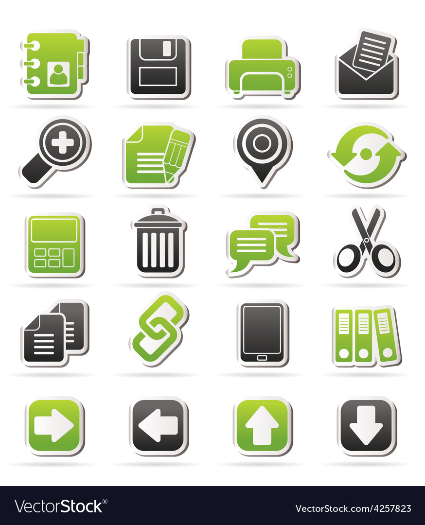 Internet interface icons vector | Price: 1 Credit (USD $1)