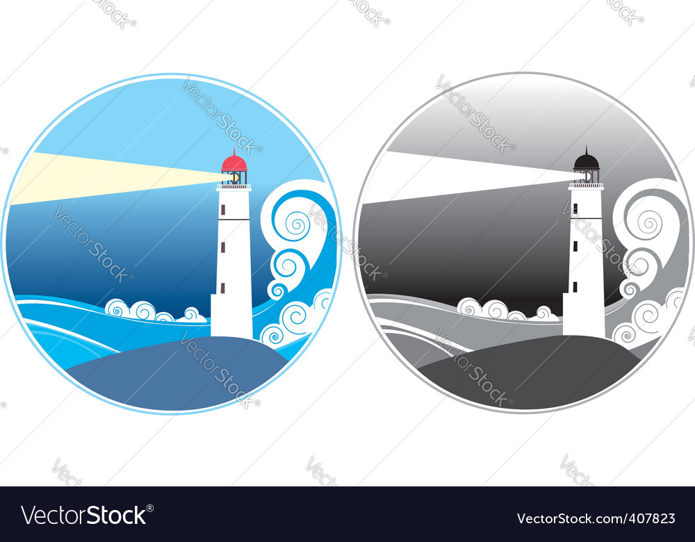 Lighthouse icons vector | Price: 1 Credit (USD $1)