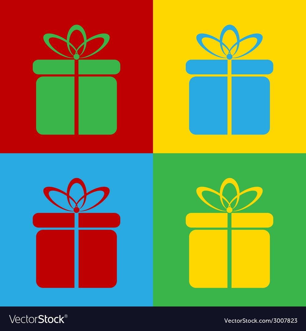 Pop art gift vector | Price: 1 Credit (USD $1)