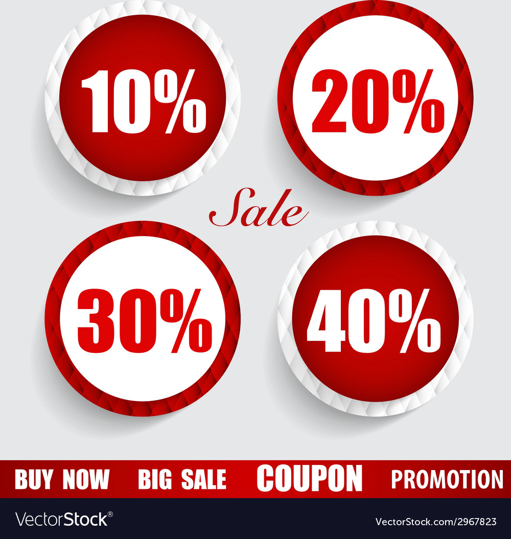 Sale coupon voucher tag sticker modern style vector | Price: 1 Credit (USD $1)