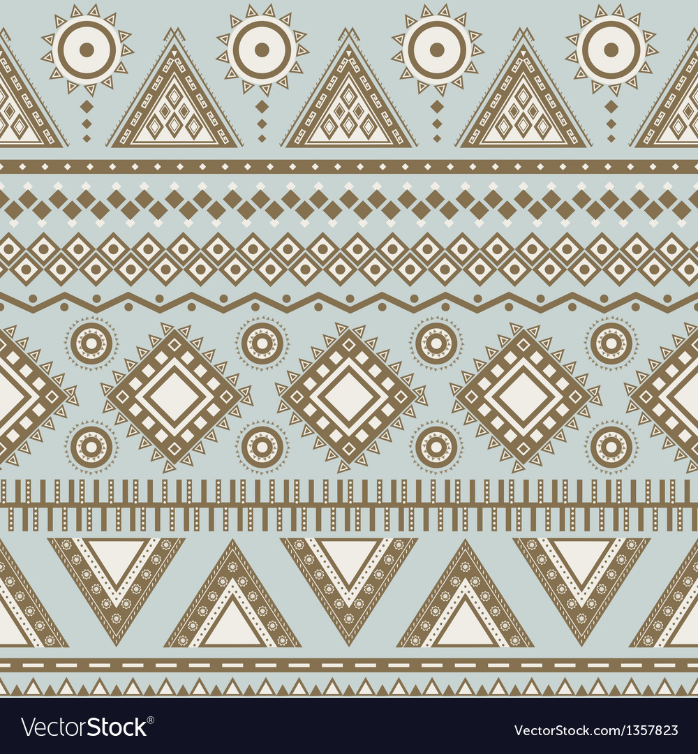 Tribal aztec seamless pattern vector | Price: 1 Credit (USD $1)