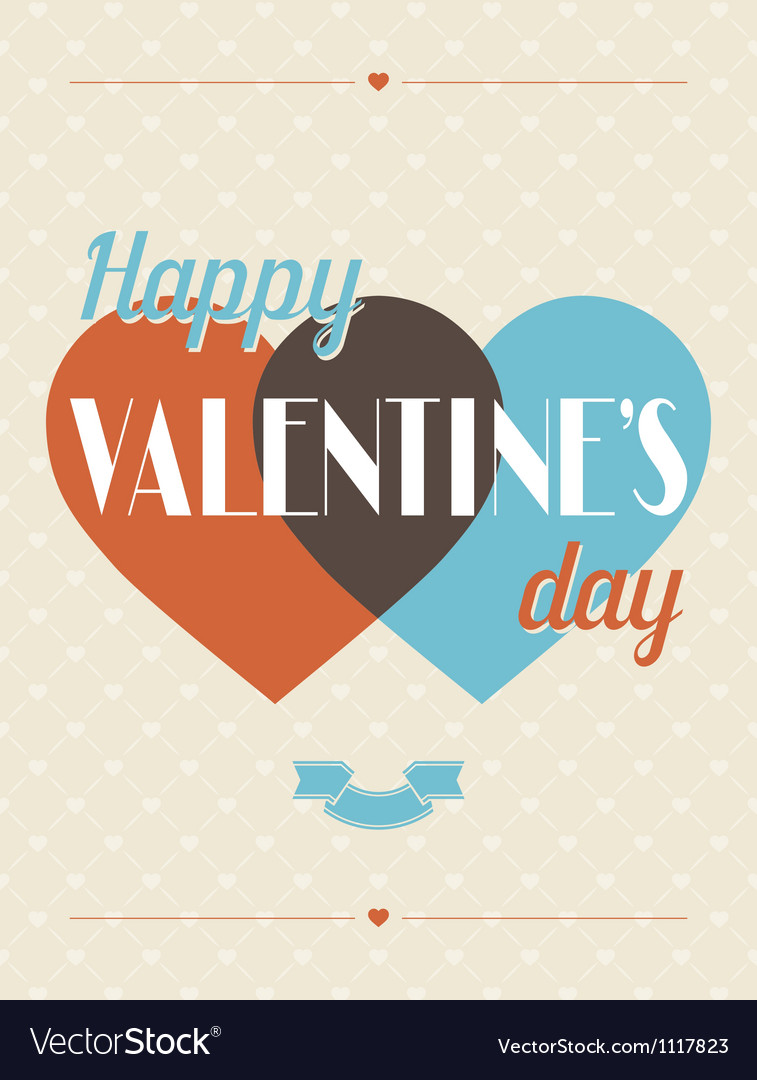 Vintage valentines day type text calligraphic vector | Price: 1 Credit (USD $1)