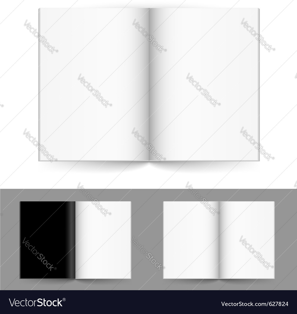 Blank magazine vector | Price: 1 Credit (USD $1)