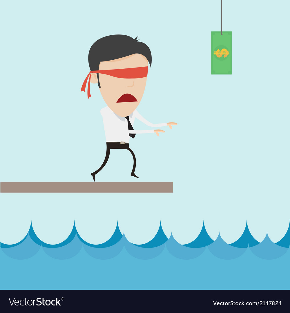 Businessman catch flying money for risk managment vector | Price: 1 Credit (USD $1)