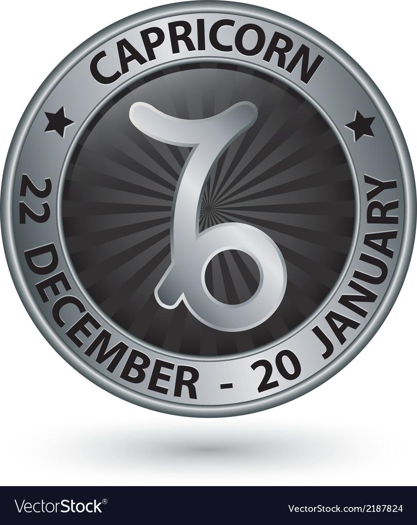 Capricorn zodiac silver sign virgo symbol vector   Price: 1 Credit (USD $1)
