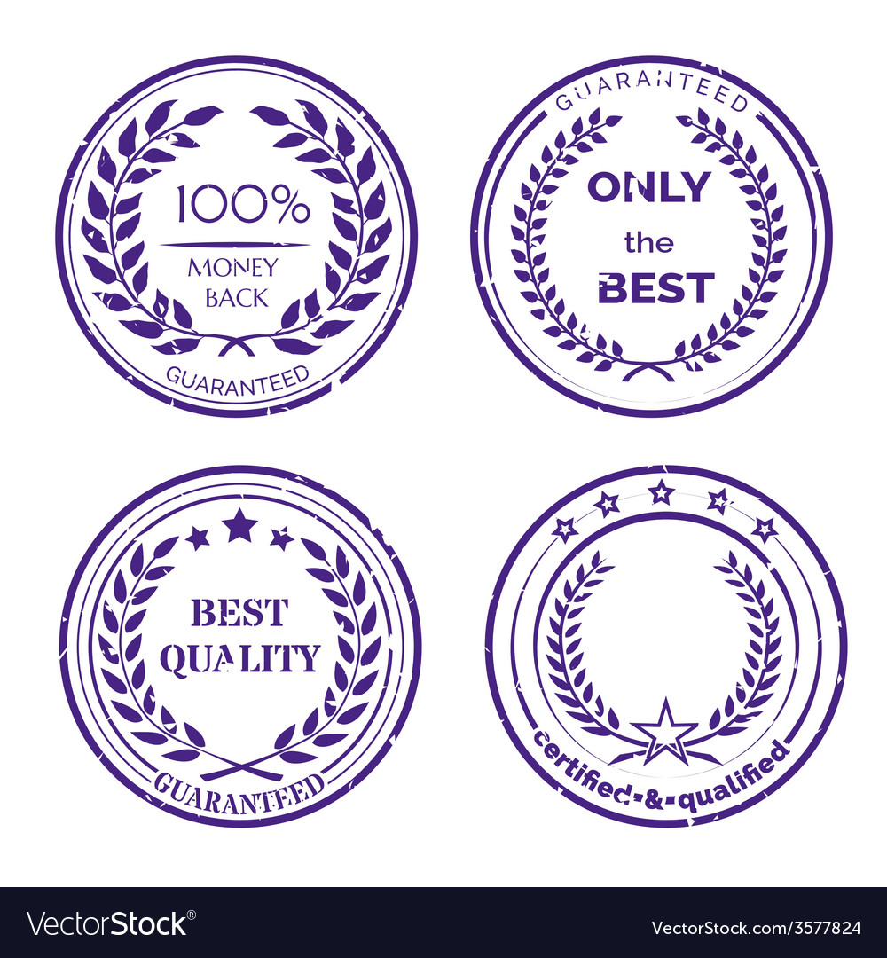Circular guarantee label set on white background vector | Price: 1 Credit (USD $1)