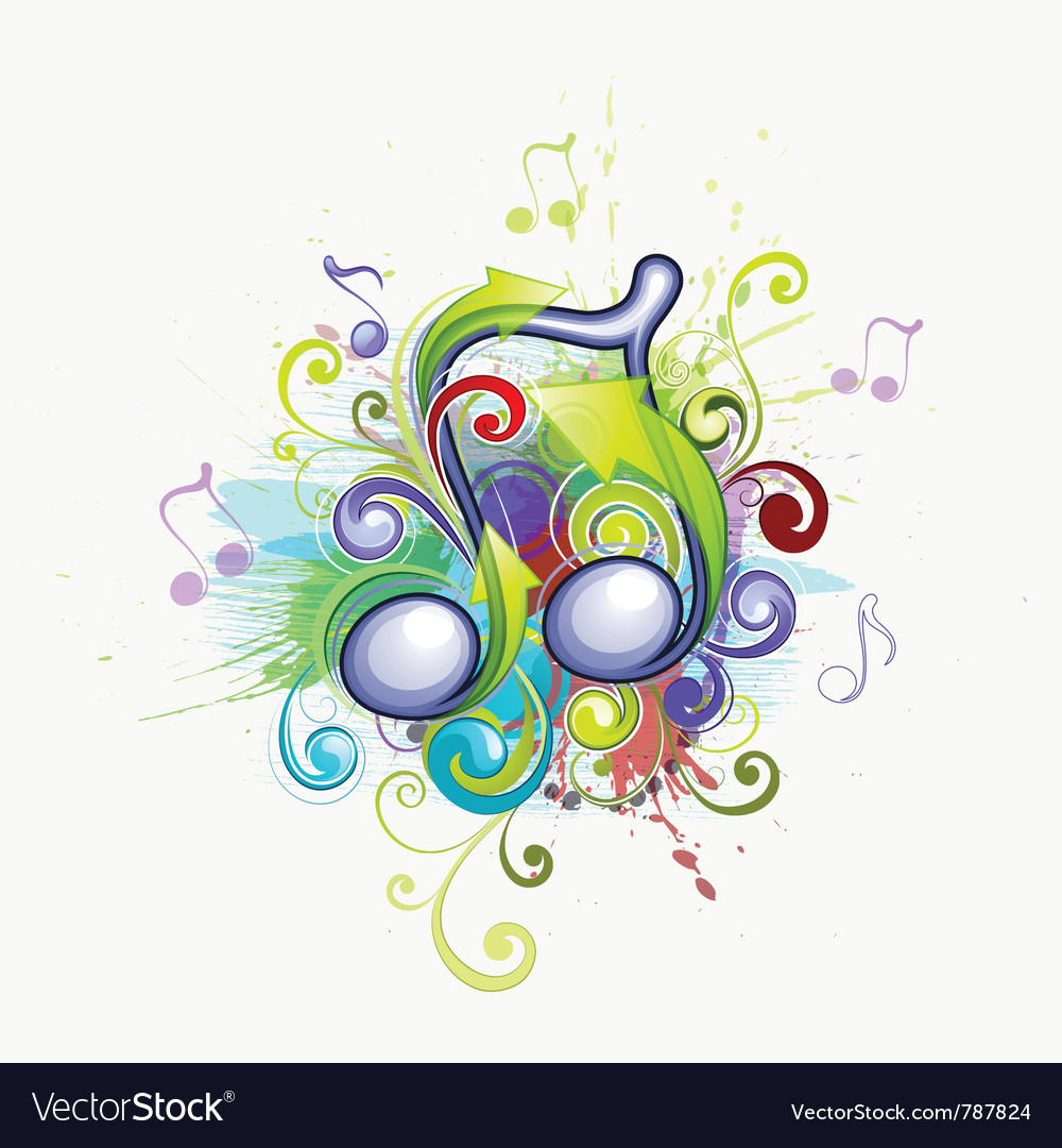 Colorful music notes vector   Price: 1 Credit (USD $1)