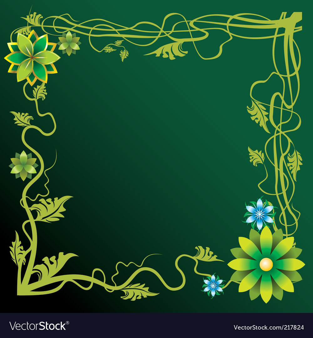 Forest border vector | Price: 1 Credit (USD $1)