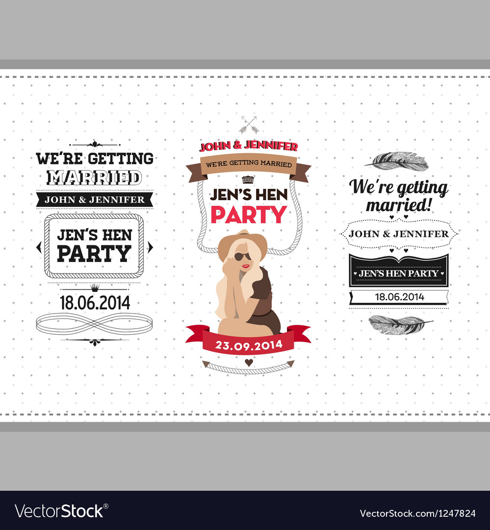 Hen party ivitation vector | Price: 1 Credit (USD $1)
