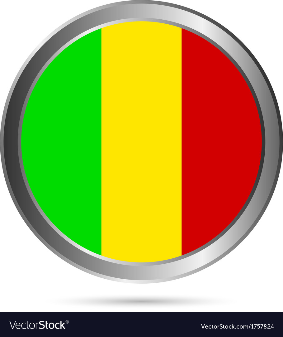 Mali flag button vector | Price: 1 Credit (USD $1)