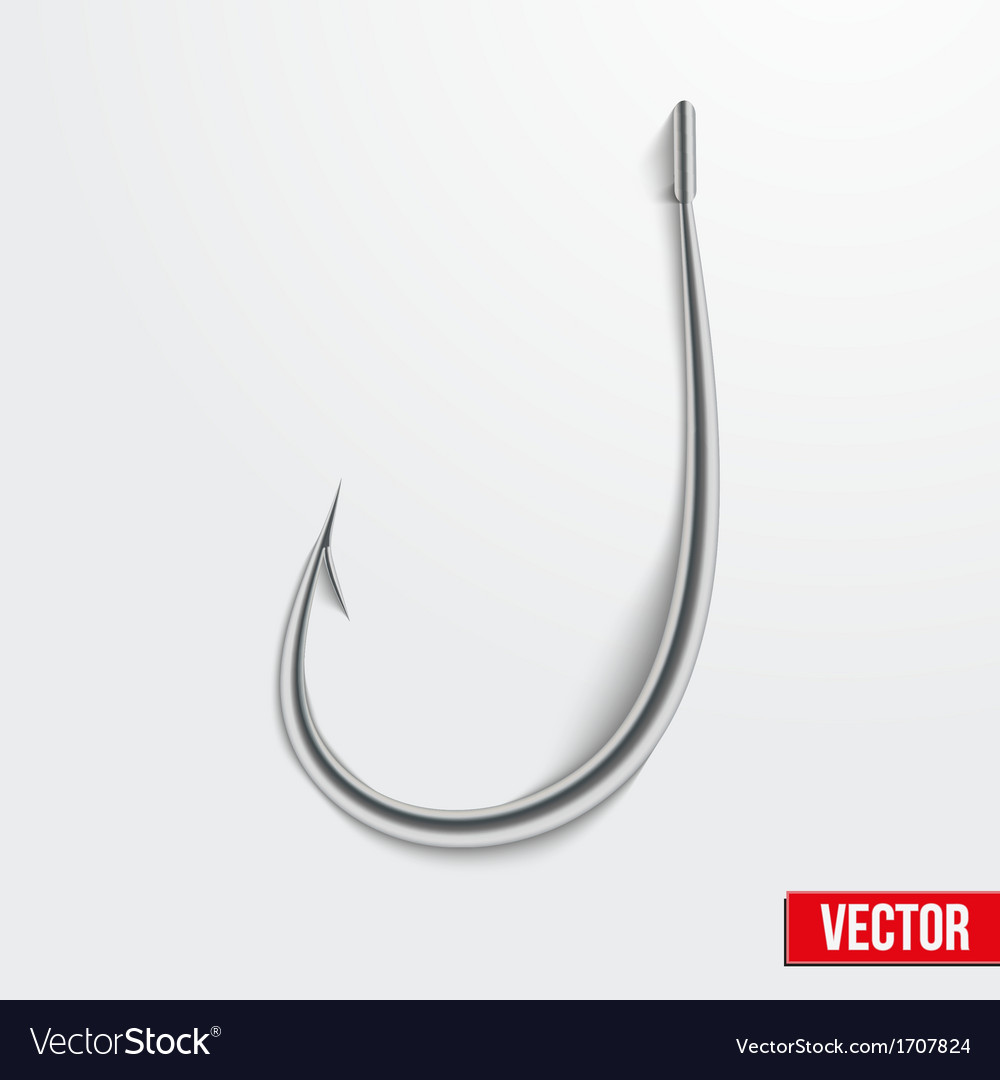 Realistic fishing hook vector | Price: 1 Credit (USD $1)