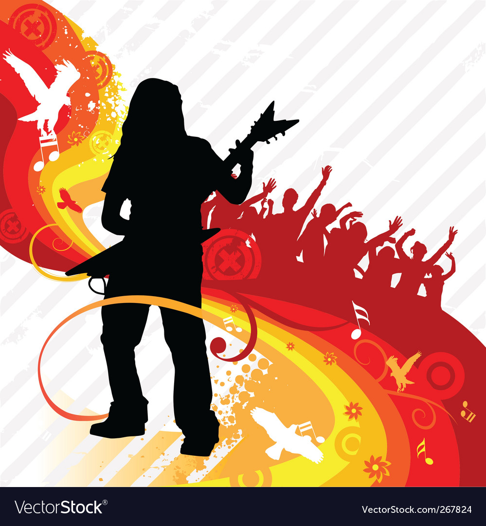 Rock guitarist vector   Price: 1 Credit (USD $1)