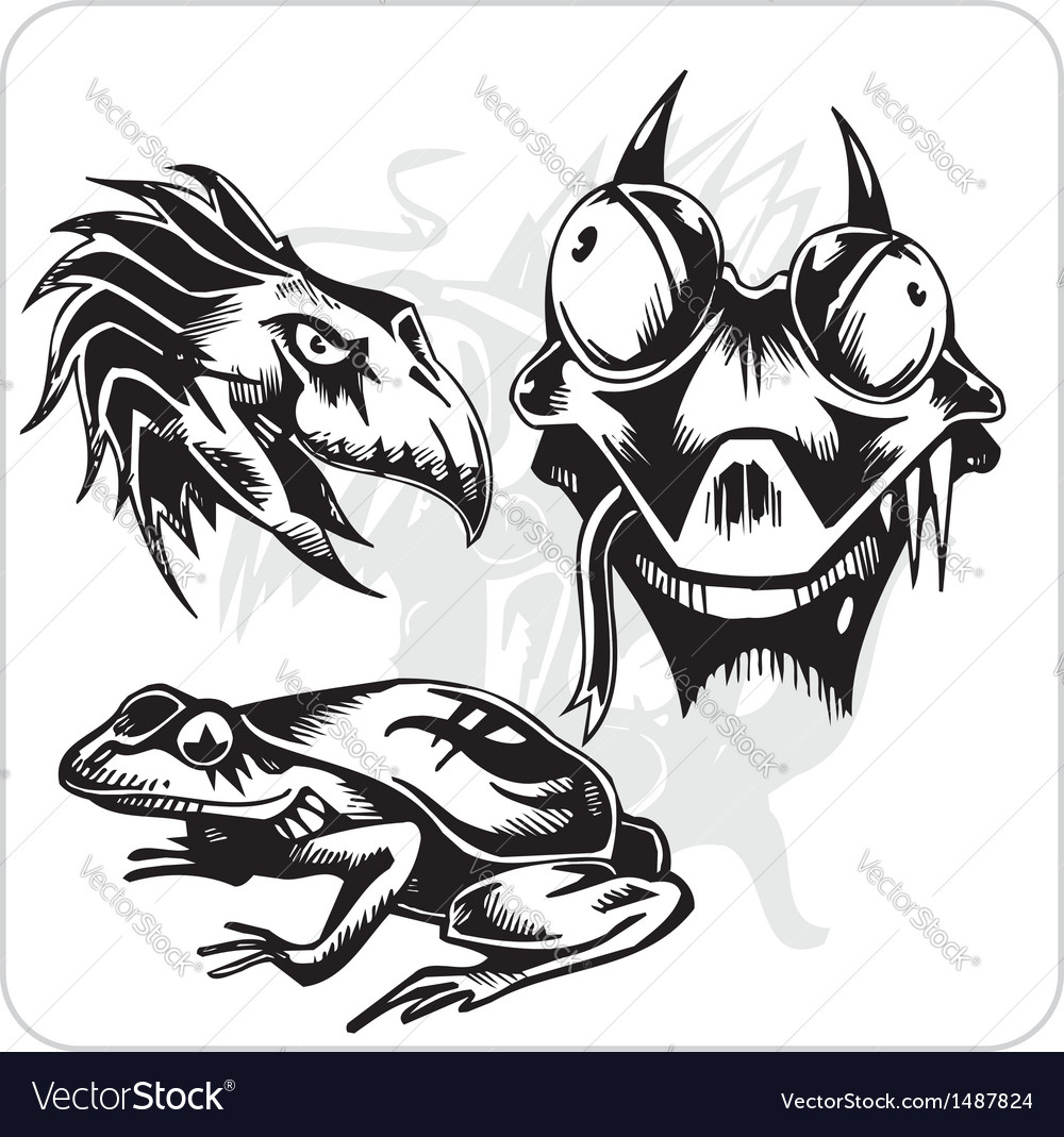 Set - aggressive creatures vector | Price: 1 Credit (USD $1)