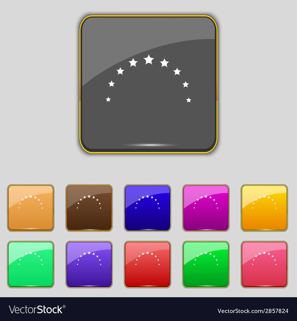 Star sign icon favorite button navigation symbol vector | Price: 1 Credit (USD $1)