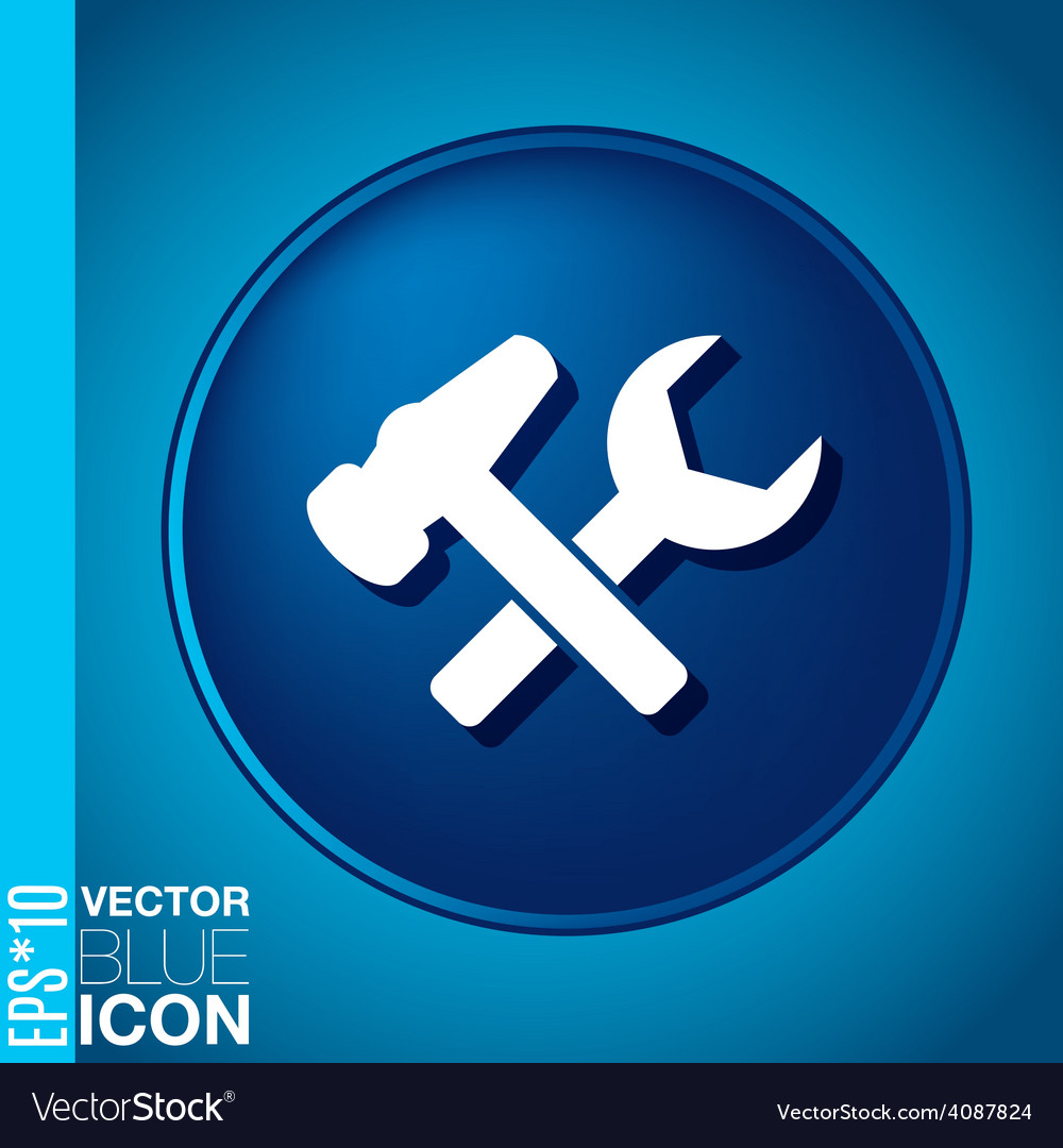 Symbol settings hammer and wrench vector | Price: 1 Credit (USD $1)