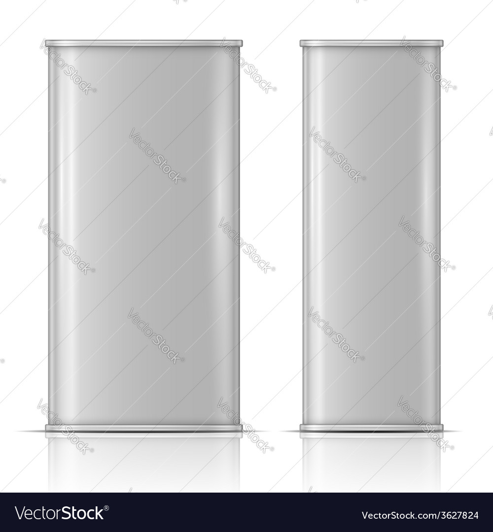 Tin oil can front and side view vector | Price: 1 Credit (USD $1)