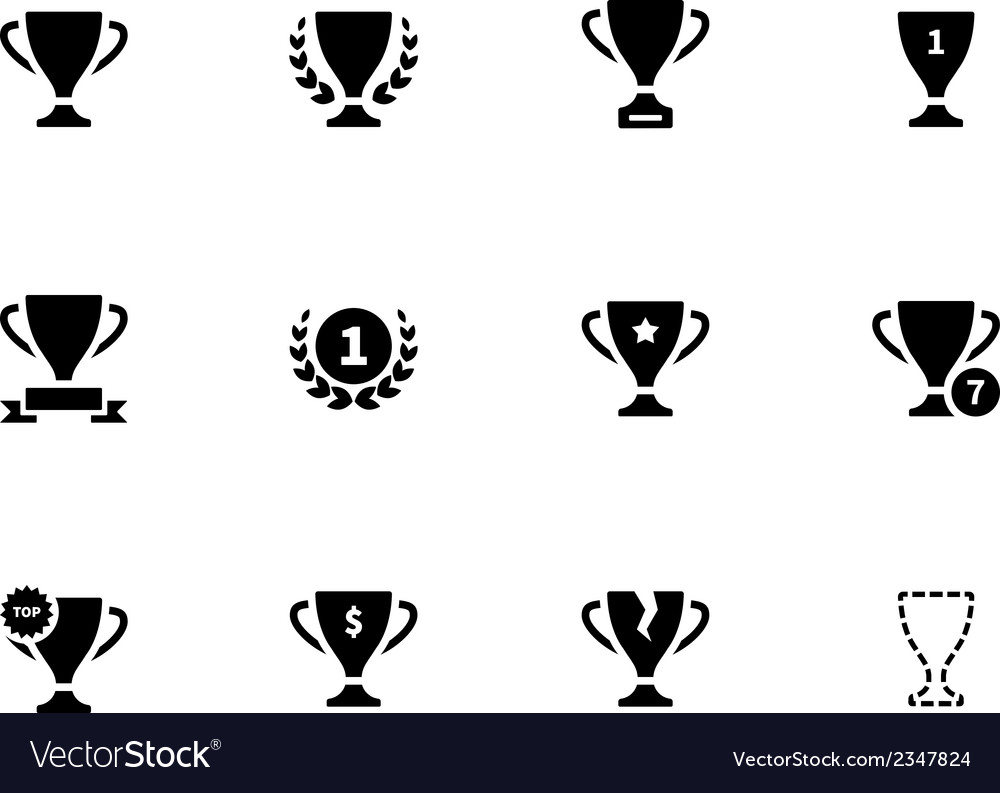 Trophy icons on white background vector | Price: 1 Credit (USD $1)