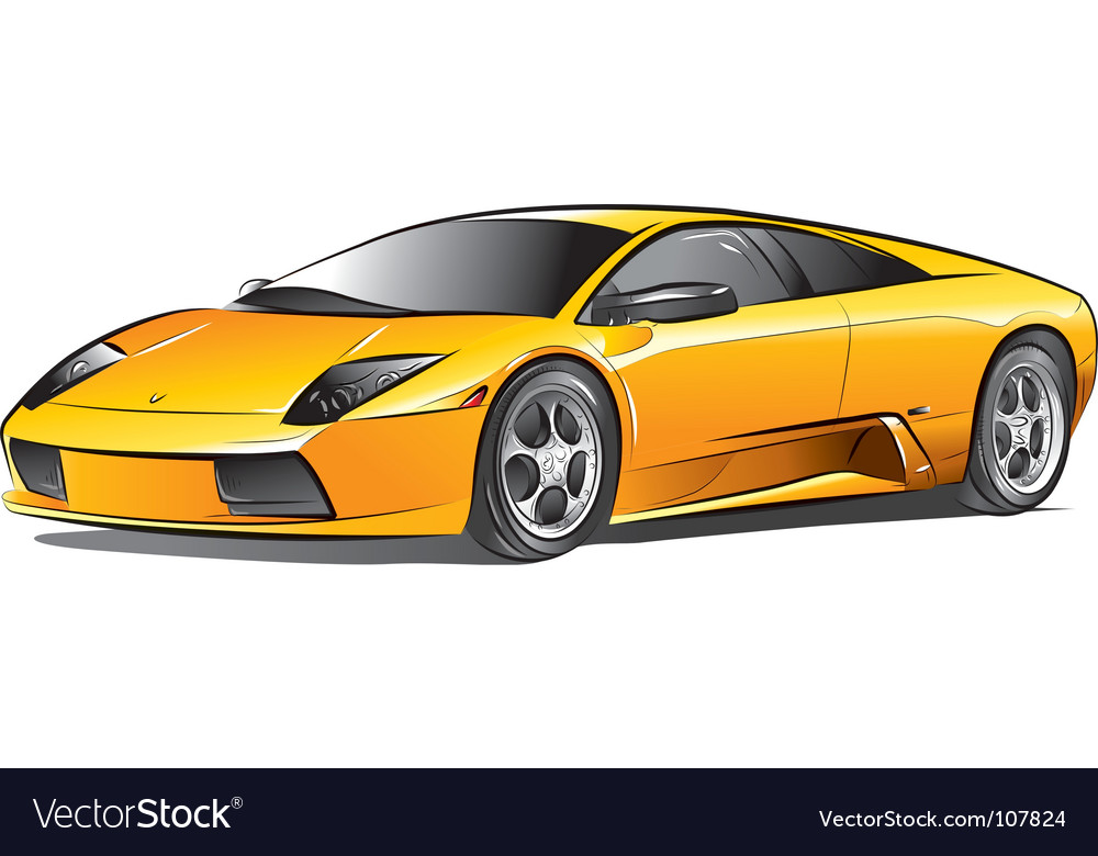 Yellow expensive car vector | Price: 1 Credit (USD $1)