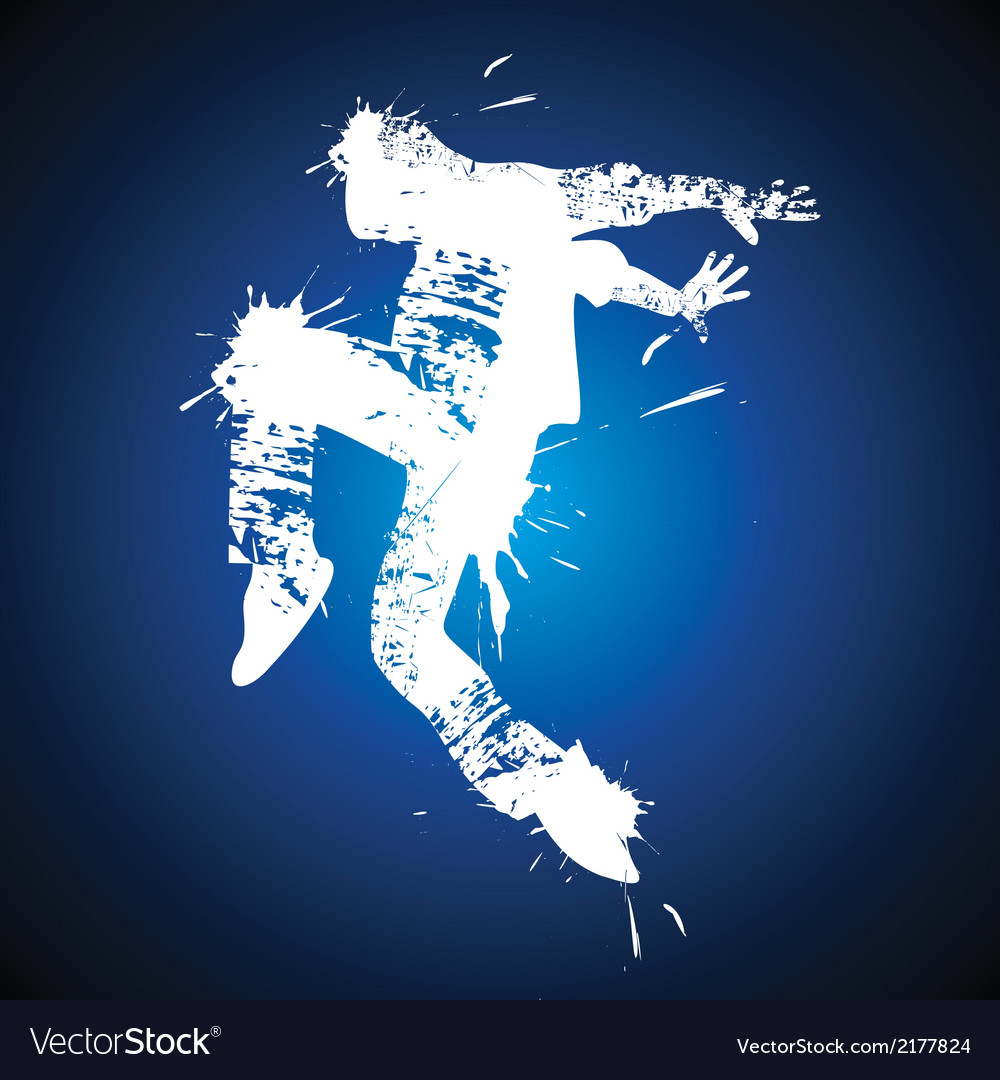 Young man hip-hop dancing vector | Price: 1 Credit (USD $1)