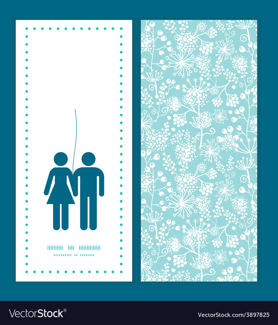 Blue and white lace garden plants couple in vector | Price: 1 Credit (USD $1)