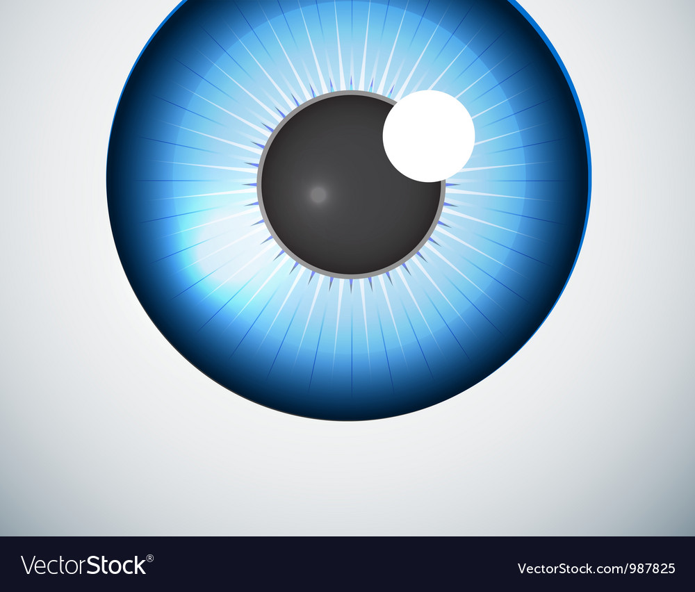 Blue eye ball background vector | Price: 1 Credit (USD $1)