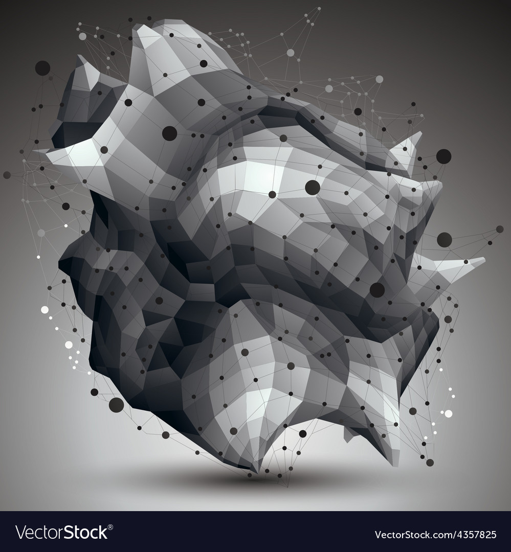 Complicated abstract grayscale 3d shape digital vector   Price: 1 Credit (USD $1)