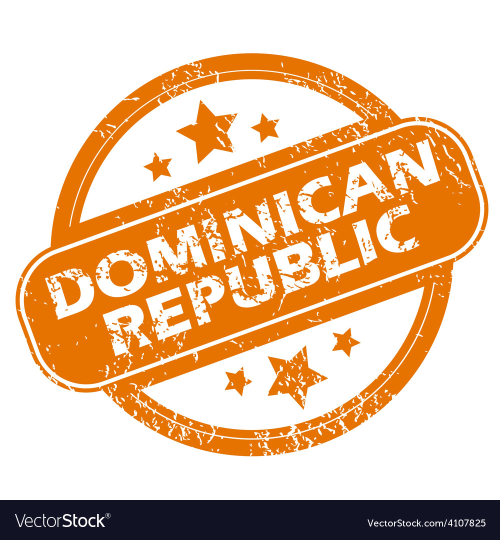 Dominican republic grunge icon vector | Price: 1 Credit (USD $1)