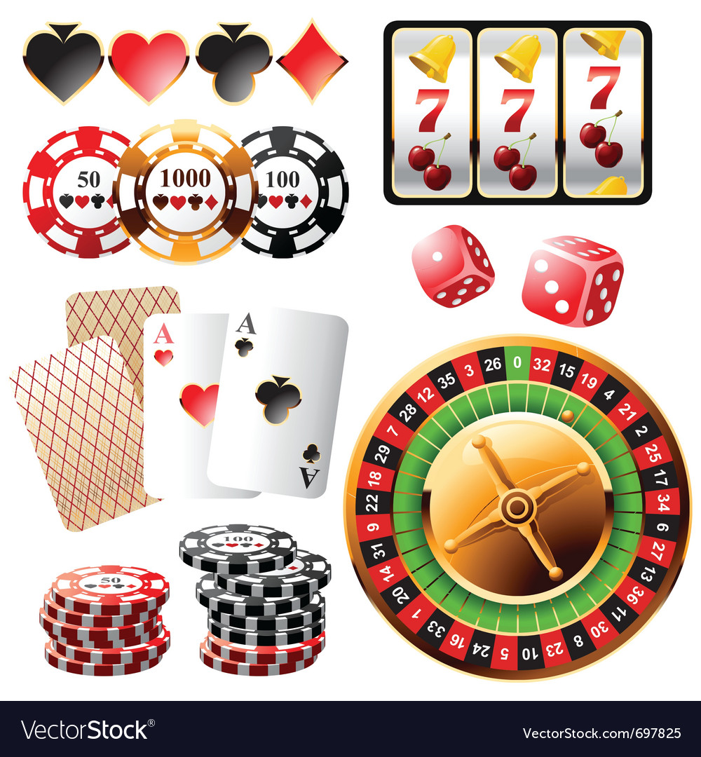 Highly detailed casino design elements vector | Price: 3 Credit (USD $3)