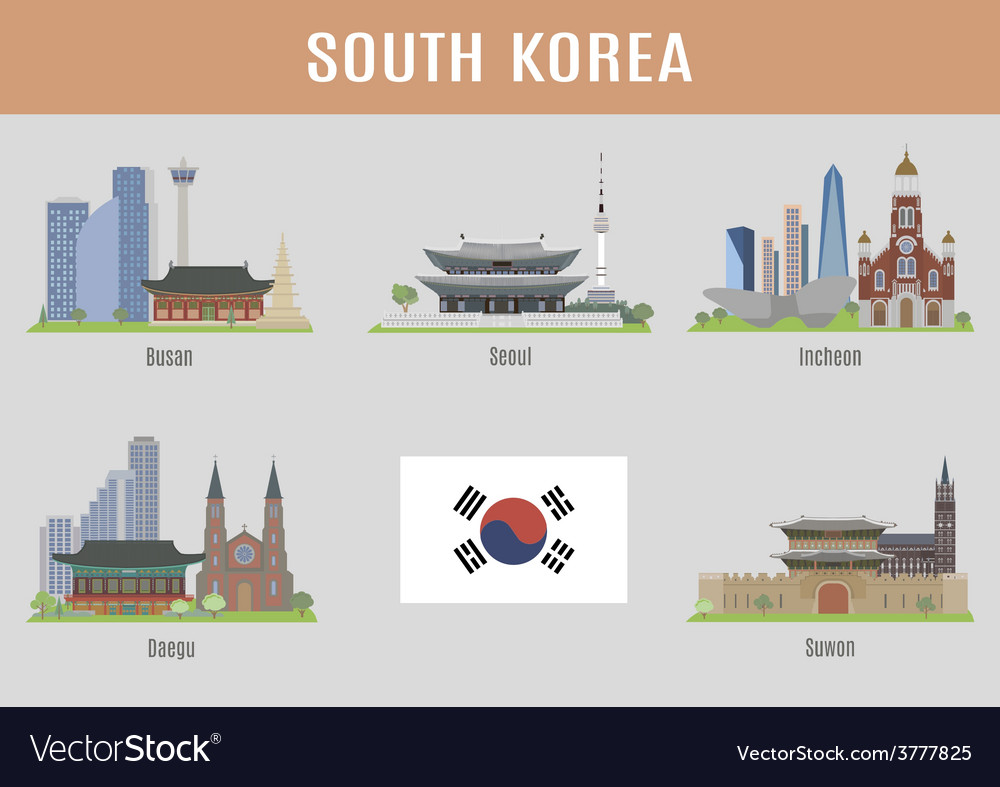 Korea vector | Price: 3 Credit (USD $3)