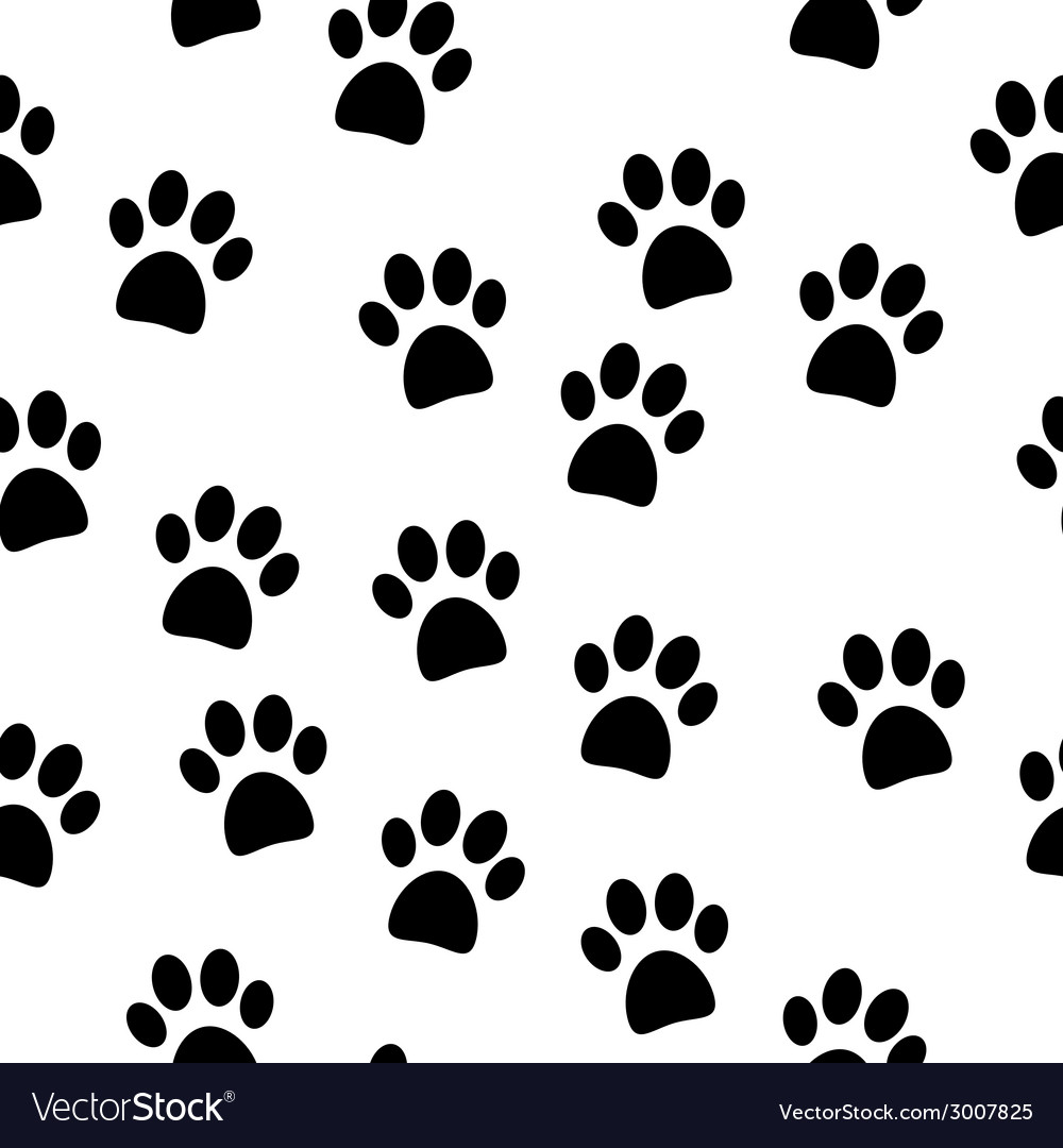 Paw seamless pattern vector | Price: 1 Credit (USD $1)