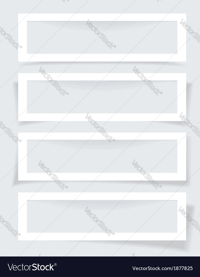 Set of frames with different shadows vector | Price: 1 Credit (USD $1)