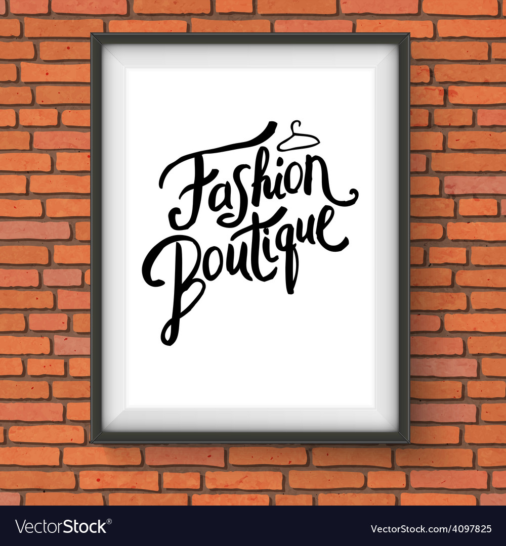 Simple text design for fashion boutique concept vector | Price: 1 Credit (USD $1)