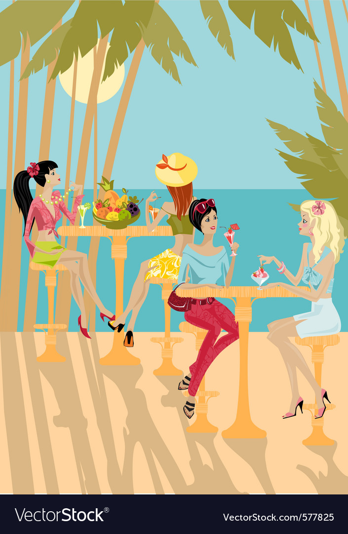 Tropical gossip vector | Price: 3 Credit (USD $3)