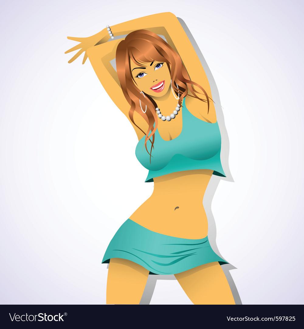 Woman dancing vector | Price: 3 Credit (USD $3)