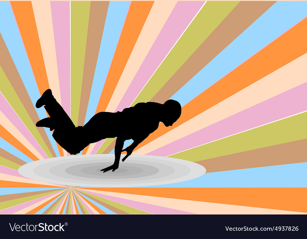 Breakdance with background 2  vector