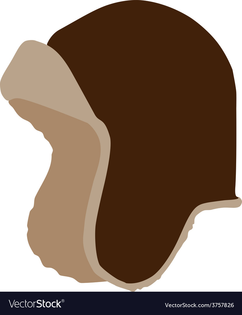 Brown winter hat vector | Price: 1 Credit (USD $1)