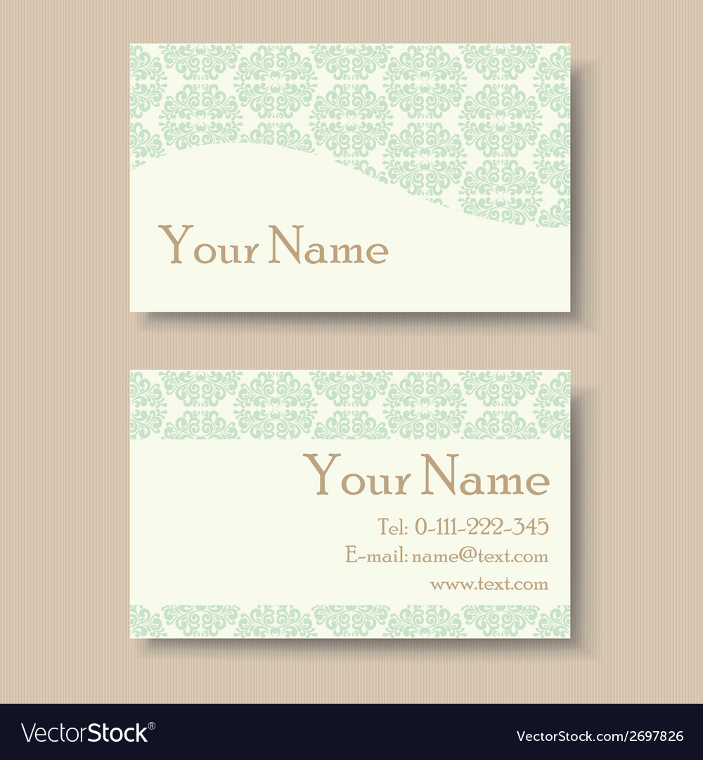 Business card with vintage background vector | Price: 1 Credit (USD $1)